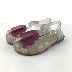 Mini Melissa Popsicle Sandals Size US 10